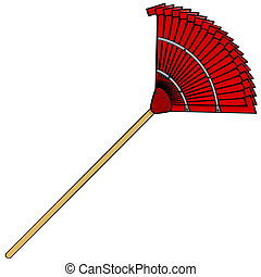 Garden rake - Cartoon illustration of a common garden metal...