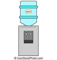Water cooler - Cartoon illustration of a portable water...