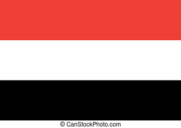 Yemen flag - Vector The Republic of Yemen flag