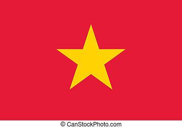 Vietnam flag - Vector Socialist Republic of Vietnam flag