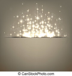 Christmas abstract background - Glowing shiny christmas...