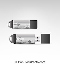 Vector USB flash drive