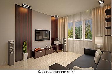modern living room -  living room