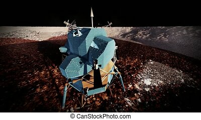 Moon rover on alien planet