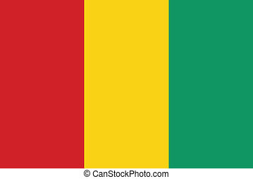 Flag of Guinea vector illustration