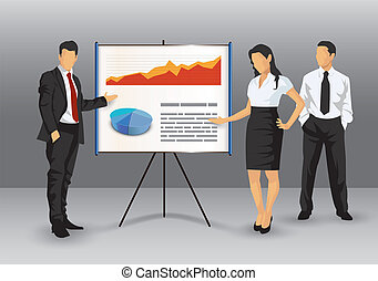 Corporate presentation illustration - Illustration of...