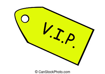 VIP - Price target on white - A yellow price target on which...
