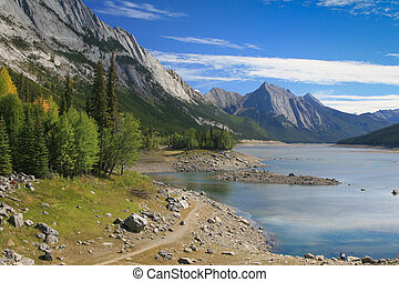 Medicine Lake at the Jasper National Park