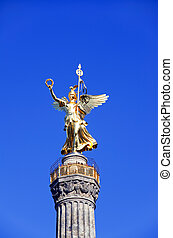 siegessule victory column in berlin germany in summer