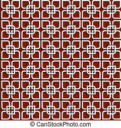 3d white pattern in islamic style