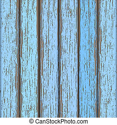 Light-blue old wooden fence. Vector background