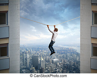 Difficulties in business - Businessman and difficulties in...