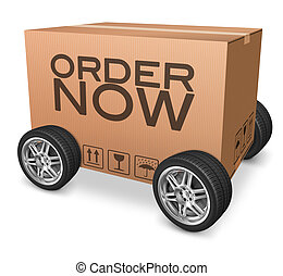 order now on online internet webshop package delivery...