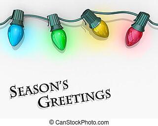 Christmas Lights Season's Greetings.