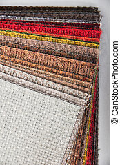 Color samples of a silk fabric