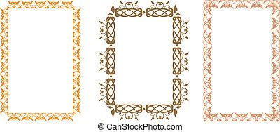 Slavic frame - Set of slavic floral frames