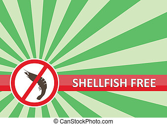Shellfish Free Banner - Shellfish free banner for food...