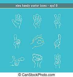 Sketched Hands Vector Set