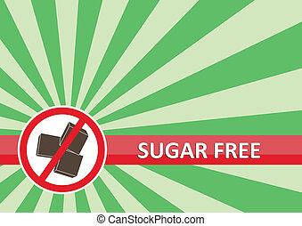 Sugar Free Banner - Sugar free banner for food allergy...