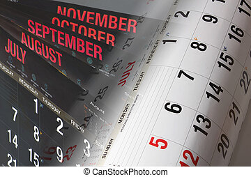 Calendar Pages - Composite of Calendar Pages