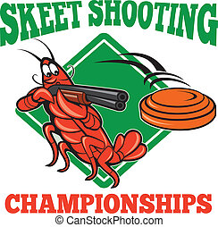 Crayfish Lobster Target Skeet Shooting - Illustration of a...