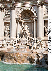 The Trevi Fountain or Fontana di Trevi is the largest and...
