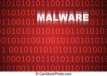 Malware Abstract Background in Web Security Series Set