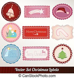 Collection vintage christmas labels
