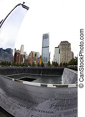 911 Memorial - NEW YORK CITY - SEPTEMBER 9: NYCs 911...