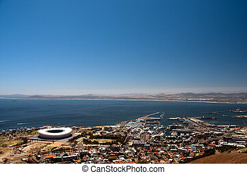 Cape Town, South Africa - View over Cape Town, South Africa,...