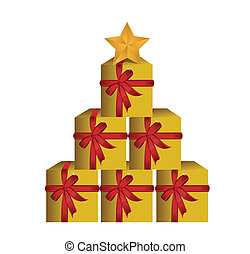 gift boxes tree