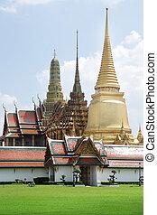 Wat Phra Kaew temple , The Grand Palace in Bangkok ,...