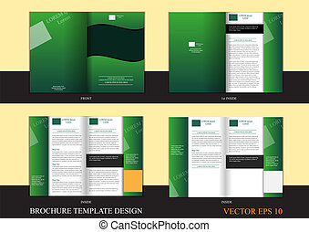 Brochure design template - Brochure template design for...
