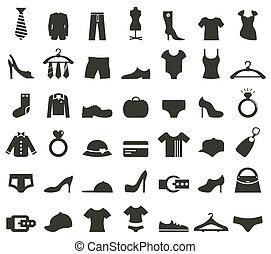 vêtements, icône