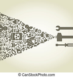 Industry2 - The tool create the industry. A vector...