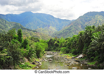 Cordillera mountains - River in Cordillera mountains,...