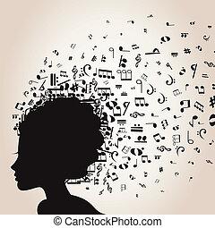 Musical female head
