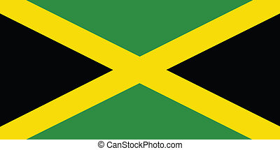 Flag of Jamaica vector illustration
