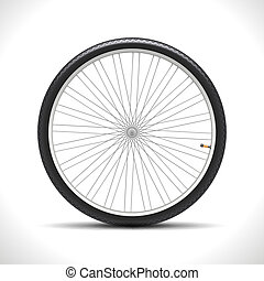 Bicycle Wheel isolated on white Vector Illustration EPS10...