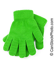 Green Glove with white background
