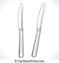 Table Knife isolated on white. Vector Illustration. EPS10...