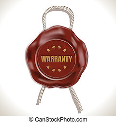 Warranty Wax Seal isolated on white. Vector Illustration....