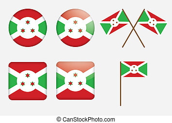 badges with flag of Burundi