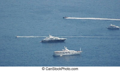 Yachts in Monaco bay