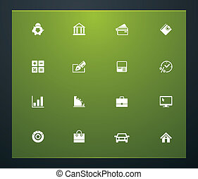 Universal glyphs 21. Banking - Set of simple bank related...