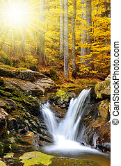 waterfalls - beautiful waterfalls in the Bavarian...