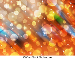 Blurred abstract background celebration light and star -...