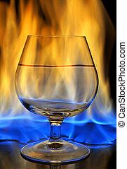 queimadura, bebida