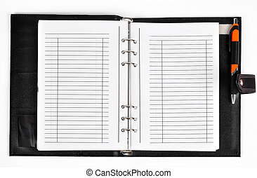 workbook isolated on white background