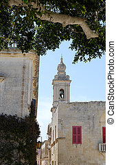 Mdina View - Bell ower of Carmelite church, seen from Pjazza...